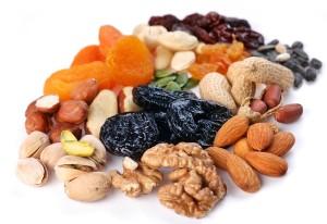 verschiedenenArten von getrockneten Früchten