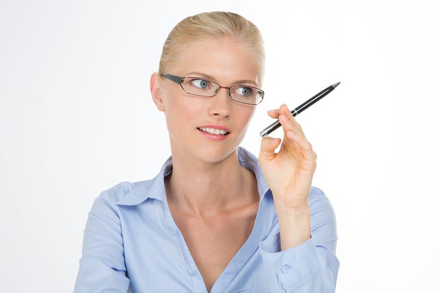 Stift als Ersatz gegen die Gewohnheit