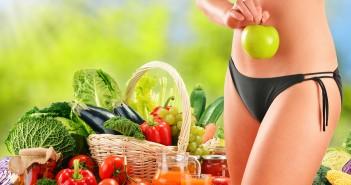 Frau mit Lebensmittel für Stoffwechseldiät
