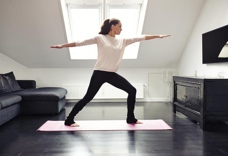 Fitnessübungen in der Wohnung