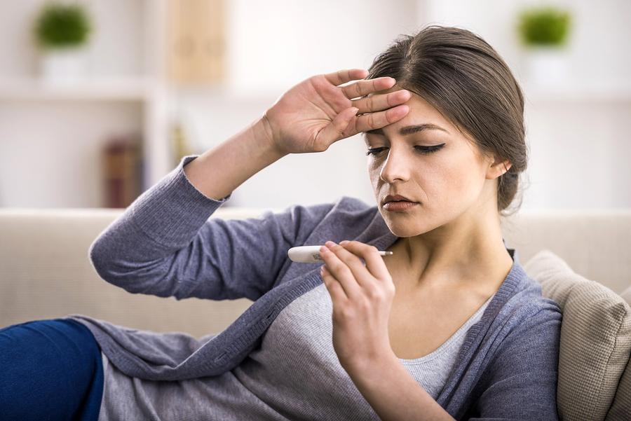 Fieber Anzeichen für eine echte GrippeErkältung