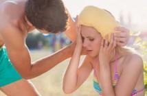 Frau erkrankt im Urlaub